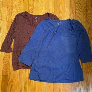 2-Pack 3/4 Sleeve Shirt